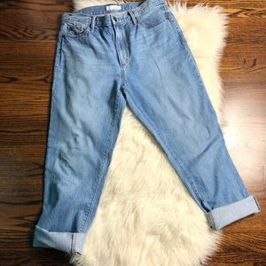 Made And Loved Loft Vintage Straight Ankle Jeans